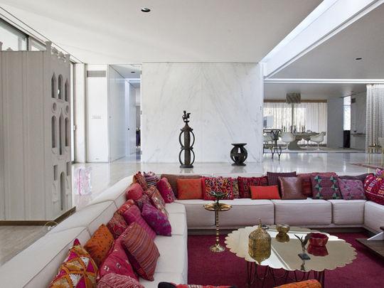 Miller House living room