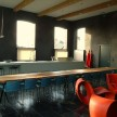 The kitchen and dining room at La Classe.