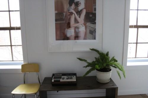 Vintage tape decks in every room
