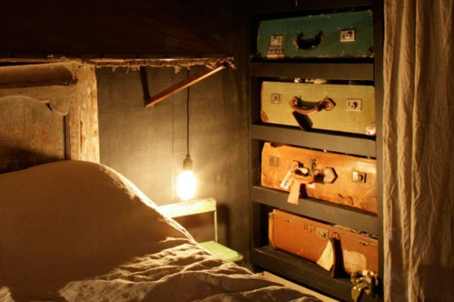 vintage suitcases as drawers