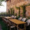 El fresco dining outside La Longere - Imagine a meal here.