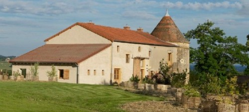 La Longere, a former barn and stable, has been converted into two houses, each accommodating four.