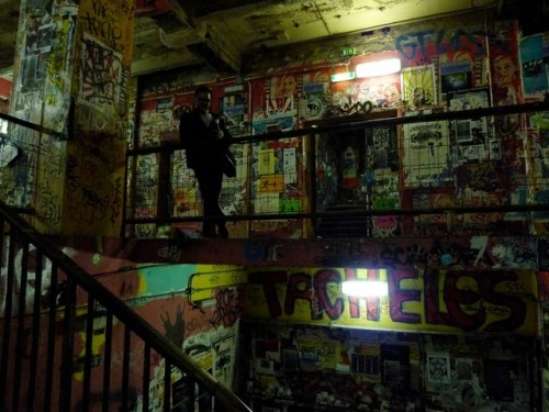 """This run-down building was next door to their hotel in Berlin-Mitte.  They passed it several times a day but it seemed intimidating. """"With some liquid courage, we entered and found floors and rooms filled with artists creating amazing pieces."""""""
