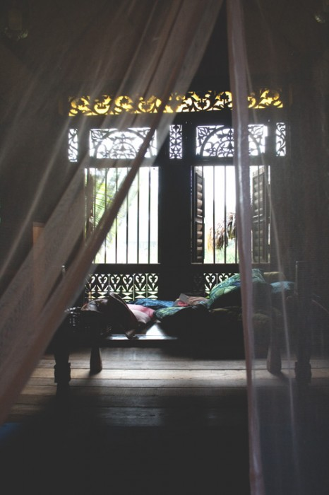 A peek into one of the villas.