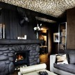 Suite fireplace.