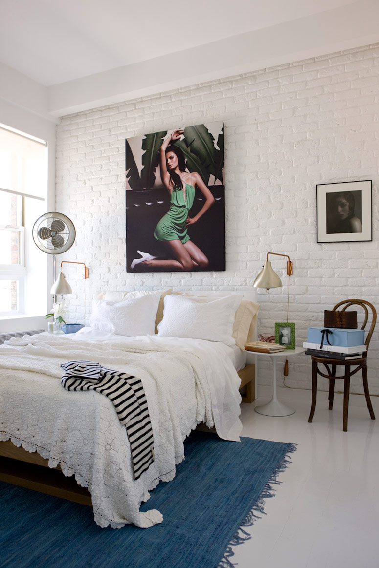 the hamptons inspired bedroom gets a jolt of high fashion with this
