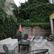Guests of the one-room b&amp;b have access to this great outdoor patio, where, yes, everything is also for sale.