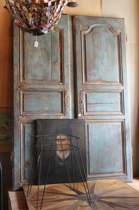 Portrait and antique doors, Bush Antiques.