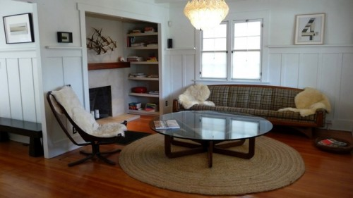 Vintage furniture in the living room with coffee table by Chinese Jesus