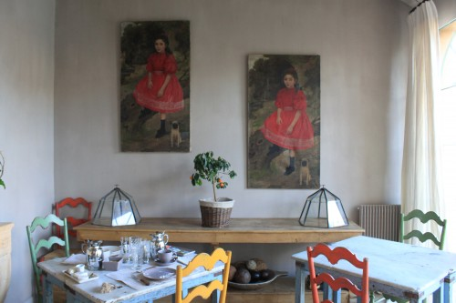 The breakfast room, where we ate meats, cheese, fresh eggs, jams and bread that Sylvie picked up at the local market.