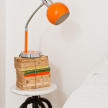 A small, clever and practical nightstand is typical of Baixa House's thoughtful design.