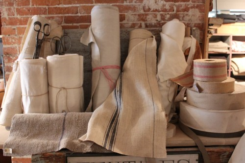 More fibrous options, from burlap to canvas.