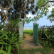The gate to the beach from the house.