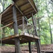 The tree house in the woods. Did I mention there's also a little zip line up there?