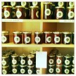 A beautiful wall of jars at La Chambre Aux, just down the street from the Hotel Amour.