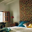 Some of the bedrooms have huge tapestries hung above the beds as headboards - hand-stitched Suzani tapestries from Uzbekistan.
