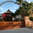 The beautiful gate to Casa dos Chicos.