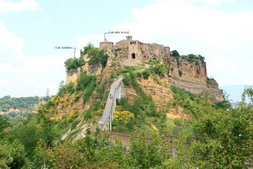 civita seen from pedestrian bridge