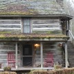 The oldest cabin at Mast Farm (and in North Carolina!), my favorite is the Loom House, where Auntie Josie made rugs and coverlets.