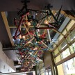 With a nod to the city's fierce biking culture, 3rd Uncle Design repurposed bike frames into a 50-foot light fixture in the café.