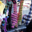 The Chiapas women sell their beautiful handmade animals, bags and fabric in the park.