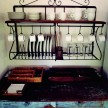 All the casas were decorated with antique Brazilian furniture, including this kitchen furniture in Eugenia casa.