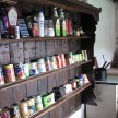 Old wooden wall pantry.