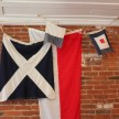 Vintage flags at Oxenrose.