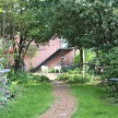 The path leading up to our carriage house.
