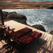 Ocean view cottage deck.