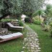 Beautiful, shared outdoor garden.