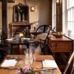 The breakfast room at The Crown.